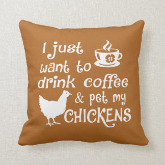 Almofada O café da bebida & Pet minhas galinhas