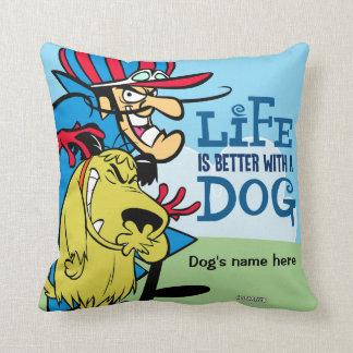 Almofada O cão e o pau de Muttley descansam para seu animal