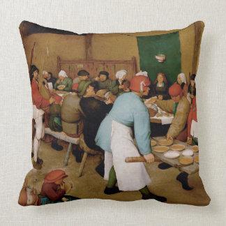 Almofada O casamento do camponês por Pieter Bruegel a