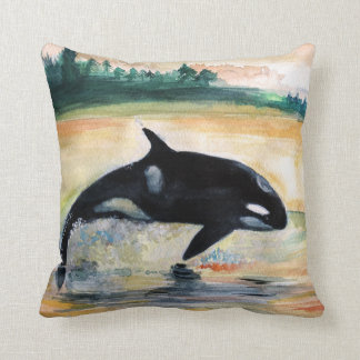 Almofada O coxim de salto 41 cm x 41 cm do lance da orca da