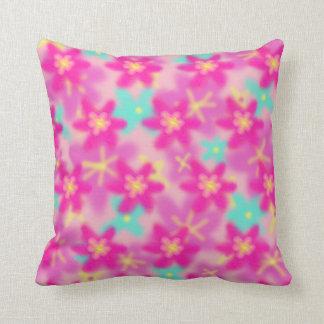 Almofada O divertimento floresce o travesseiro decorativo