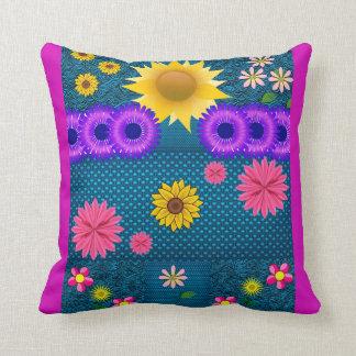 Almofada O dobro dos padrões de flores do travesseiro tomou