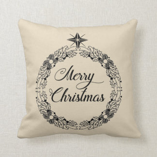 Almofada O Feliz Natal envolve o travesseiro decorativo