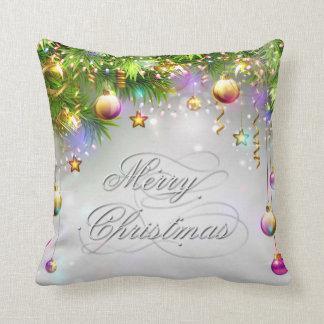 Almofada O feriado do Natal Ornaments multi cores