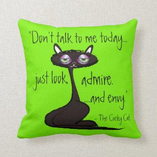 Almofada O gato arrogante