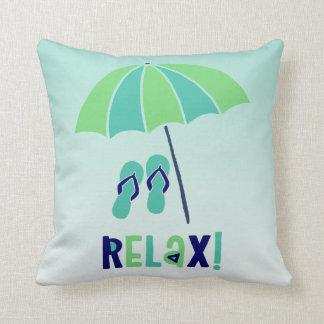 Almofada O guarda-chuva de praia relaxa seu bom para sua