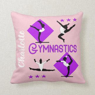 Almofada O Gymnast figura a ginástica bonito das meninas