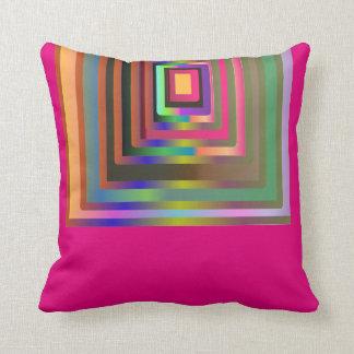 Almofada O inclinação colorido esquadra o travesseiro
