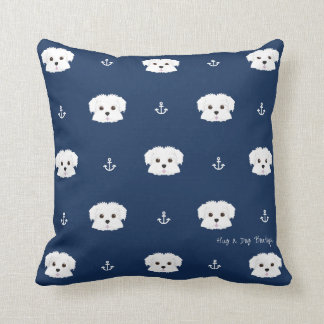 Almofada O marinho ancora o travesseiro decorativo do