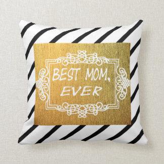 Almofada O melhor presente do ouro do dia das mães da mamã