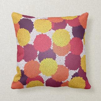 Almofada O mosaico pontilha o travesseiro decorativo