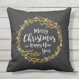 Almofada O Natal deseja travesseiros decorativos
