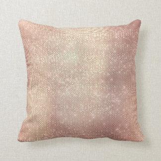 Almofada O ouro do rosa do rosa cora Sequin Sparkly