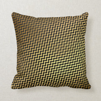 Almofada O ouro preto listra linear mínimo da geometria do
