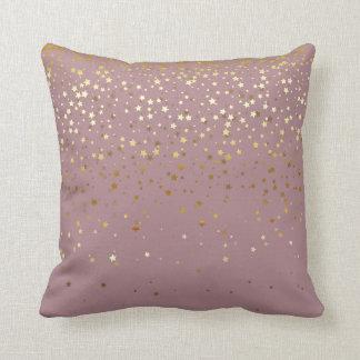 Almofada O pequeno ouro interno Stars Travesseiro-Malva