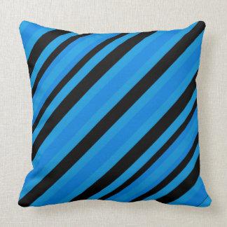 Almofada O preto azul de turquesa listra o travesseiro
