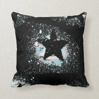 Almofada O preto Stars o travesseiro decorativo