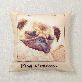 Almofada O Pug sonha o coxim