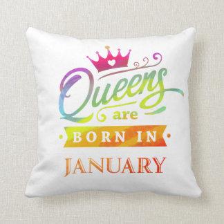 Almofada O Queens é em janeiro presente de aniversário