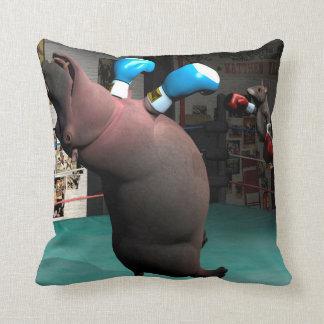 Almofada O rato bate o hipopótamo KO