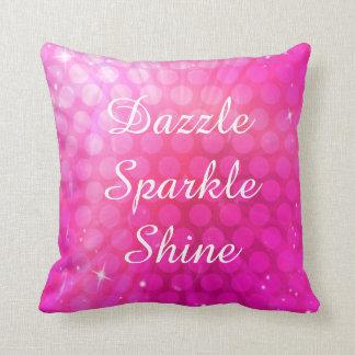 Almofada O rosa brilha o travesseiro decorativo do brilho