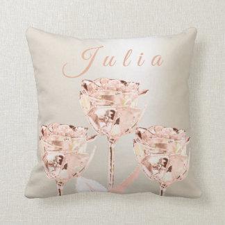 Almofada O rosa conhecido das flores dos rosas cora Lux do