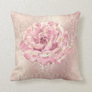 Almofada O rosa cor-de-rosa da flor cora damasco Pastel do
