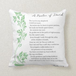 Almofada O salmo de David o senhor é meu verso da bíblia do