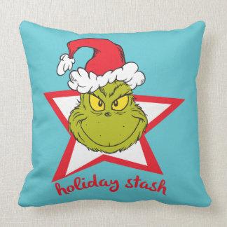 Almofada O Stash do feriado de Grinch |