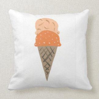 "Almofada O travesseiro alaranjado bonito ""vida do cone do"