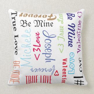 Almofada O travesseiro ama para sempre seja namorados da
