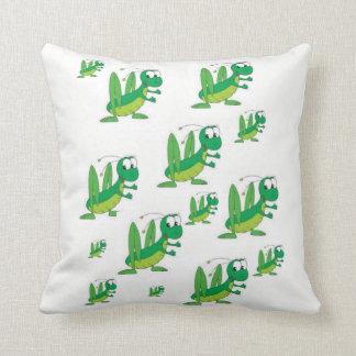 Almofada o travesseiro decorativo desnucleia gafanhotos