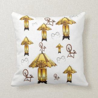Almofada o travesseiro decorativo desnucleia lâmpadas do