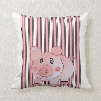 Almofada o travesseiro decorativo desnucleia o porco