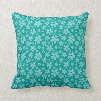 Almofada O travesseiro decorativo do algodão de turquesa,