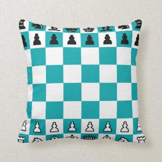 Almofada O travesseiro decorativo do poliéster da xadrez,