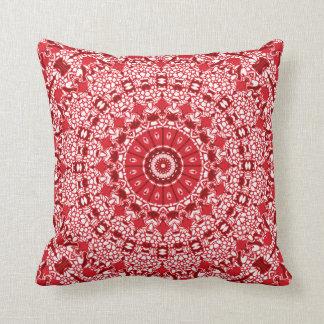 Almofada O travesseiro do caleidoscópio dos vermelhos