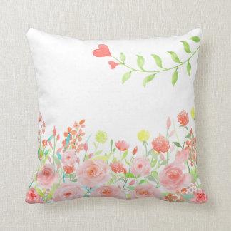 Almofada o travesseiro romântico do jardim de rosas