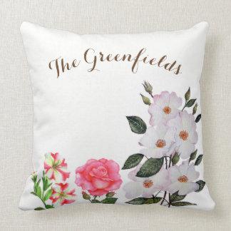Almofada O verão feito sob encomenda floresce o travesseiro