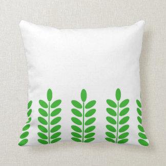 Almofada O verde deixa o travesseiro sem emenda do teste