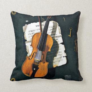 Almofada O violino velho, pintura das belas artes