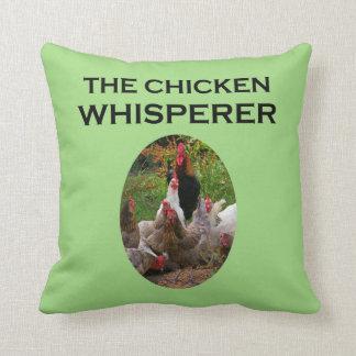 Almofada O Whisperer da galinha, travesseiro decorativo