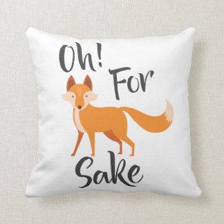 Almofada oh para o travesseiro do coxim da causa da raposa