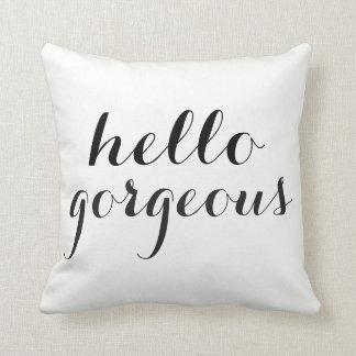 Almofada Olá! algodão lindo do travesseiro decorativo 16X16