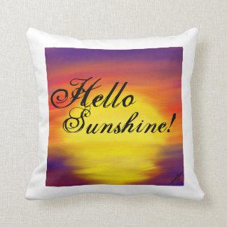 Almofada Olá! travesseiro decorativo da luz do sol