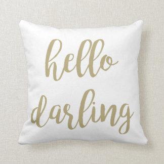 "Almofada ""Olá!"" travesseiro decorativo querido"