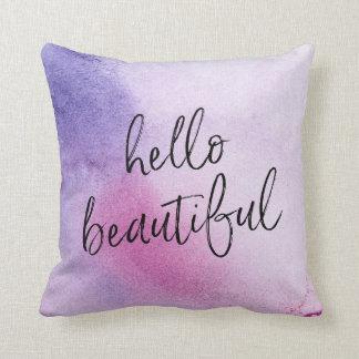 Almofada Olá! travesseiro mão-indicado por letras bonito do