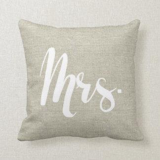 """Almofada Olhar de linho """"Sra."""" travesseiro"""