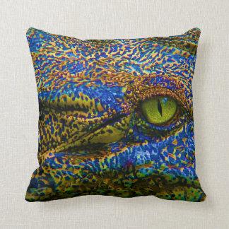 Almofada Olho colorido do crocodilo do jacaré editável!