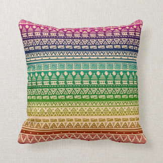 Almofada Ornamento colorido do arco-íris